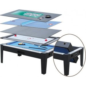 877 352 7529 1 300x300 - 6 in 1 Multi Game Table in Black