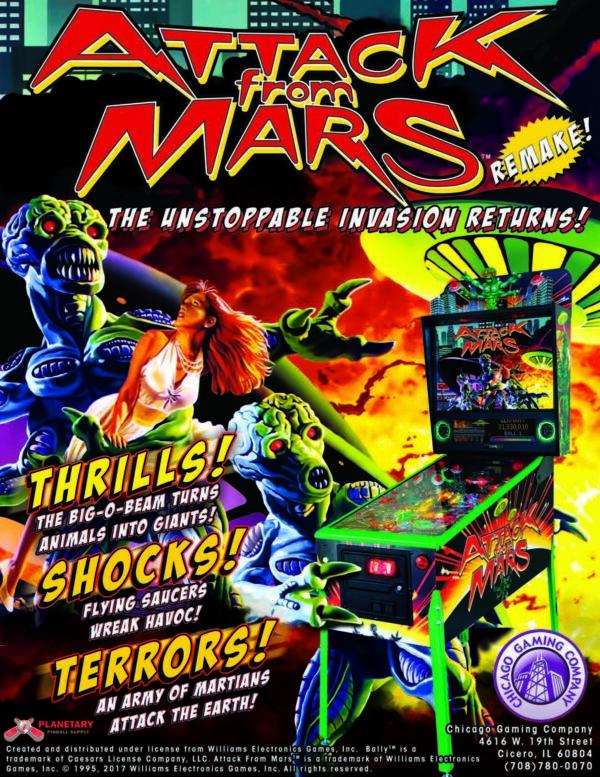 Attach image 4 600x777 - Attack from Mars Remake Pinball Machine