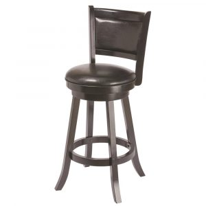 RAM Backed Swivel Bar Stool Black