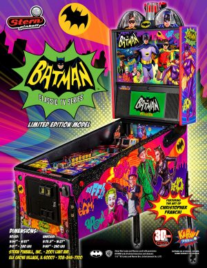 Batman 66 image 2 300x388 - Batman 66 Premium Pinball Machine