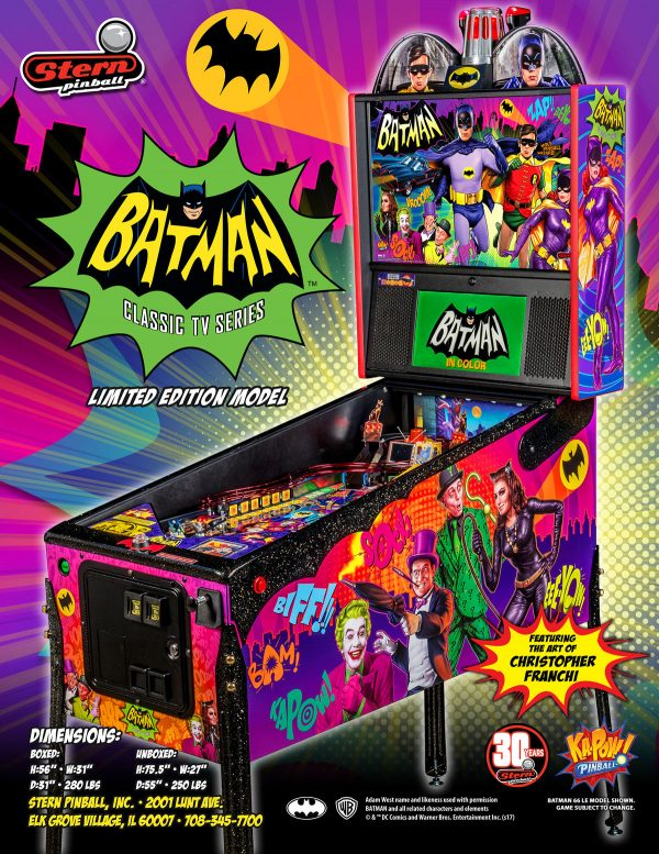 Batman 66 image 2 600x777 - Batman 66 Premium Pinball Machine