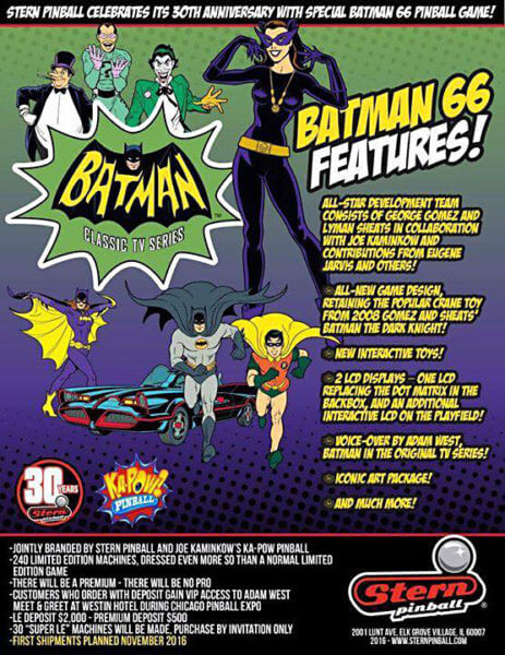 Batman 66 image 3 - Batman 66 Premium Pinball Machine