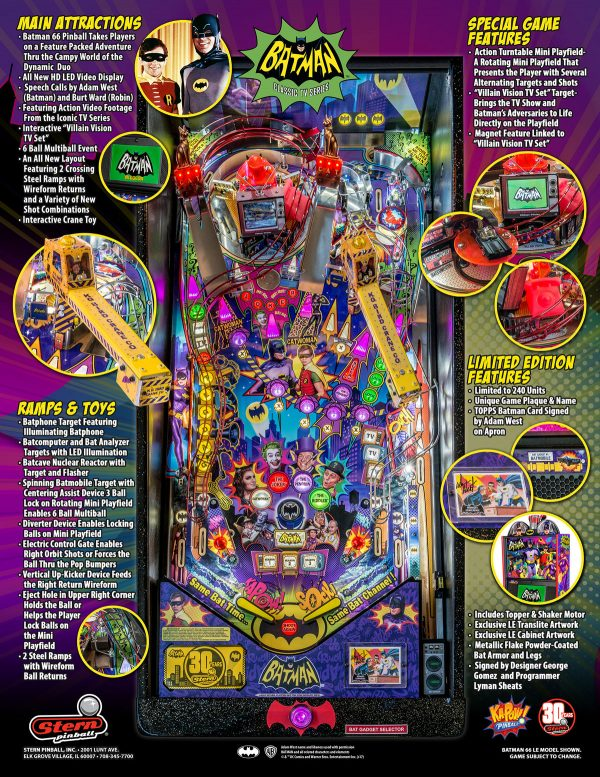 Batman 66 image 4 600x777 - Batman 66 Premium Pinball Machine
