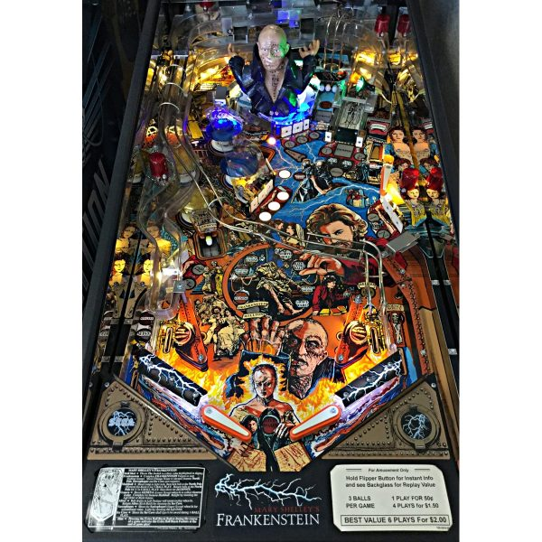 Frankenstein Pinball Machine Playfield Illuminated