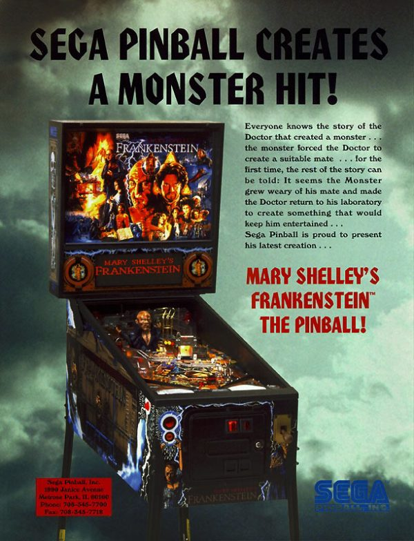 Frankenstien image 10 600x784 - Mary Shelley's Frankenstein Pinball Machine