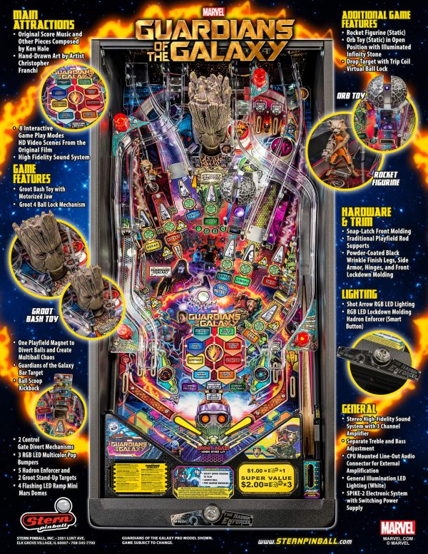 Guardians of the Galaxy Pro Pinball Flyer
