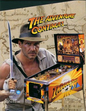 Indiana Jones Pinball Machine by Williams