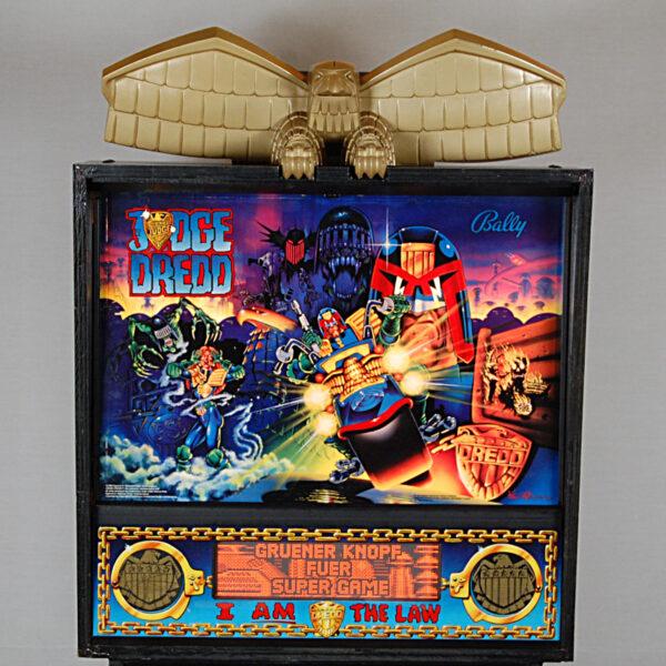Judge Dredd Pinball Machine Backglass