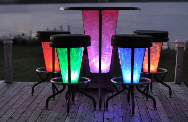 Light up table image 1 600x388 - Elite Light Up Table and Stools