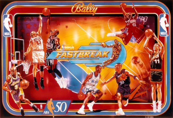 NBA image 8 600x411 - NBA Fastbreak Pinball Machine