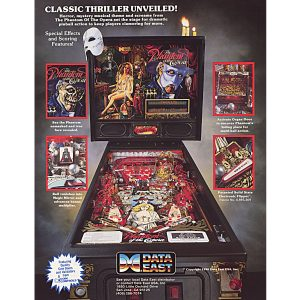Phantom of the Opera Pinball Flyer