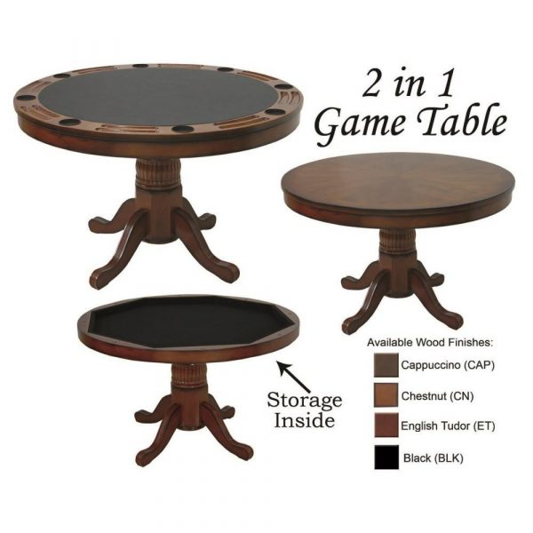 """Round image 4 600x600 - 2 in 1 CIRCULAR GAME TABLE 48"""""""