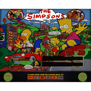 Simpsons Pinball Machine Backglass