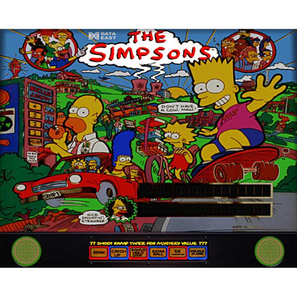 Simpsons Pinball Machine Backglass