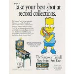 Simpsons Pinball Machine Flyer