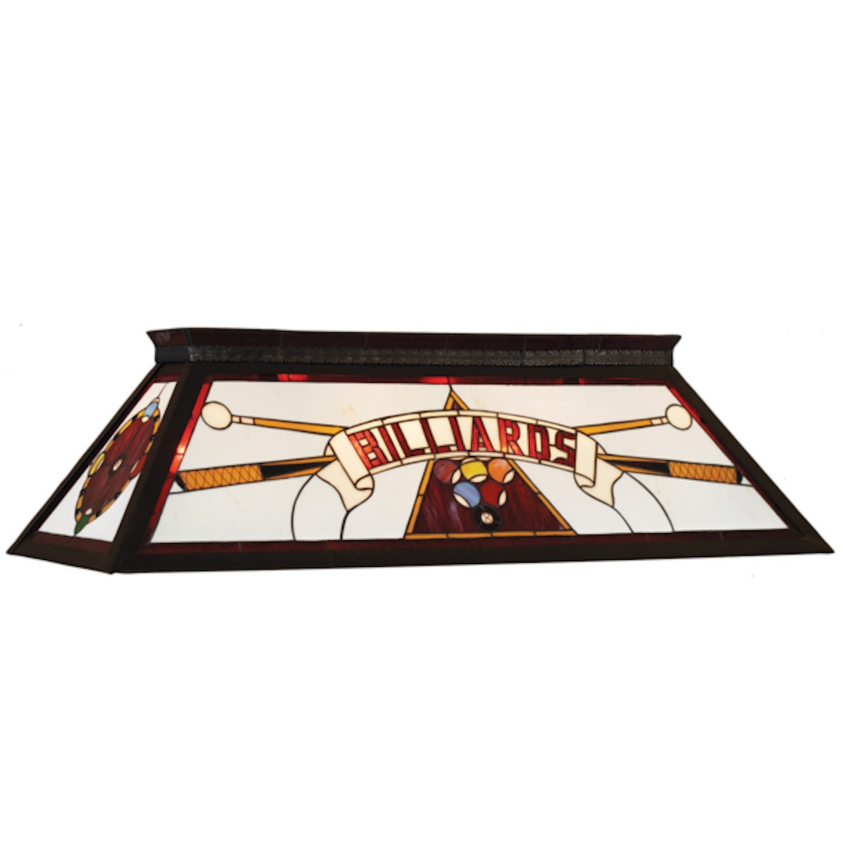 Stained Glass Billiards Light Fixture Red - Adrian Pool Table