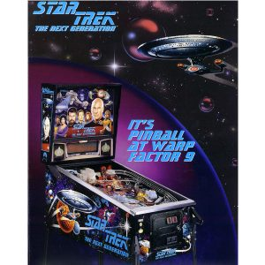 Star Trek Next Generation Pinball Flyer