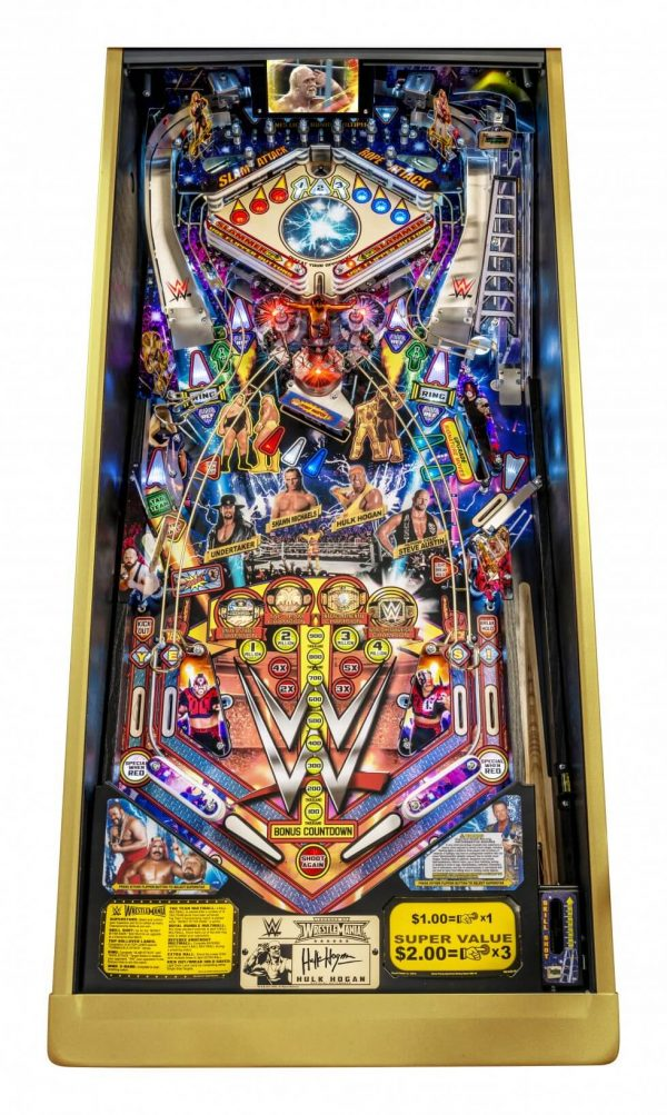 WWE image 2 600x1003 - Legends of Wrestlemania Pinball Machine