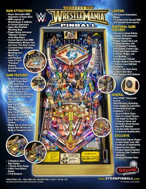 WWE image 6 300x386 - Legends of Wrestlemania Limited Edition Pinball Machine