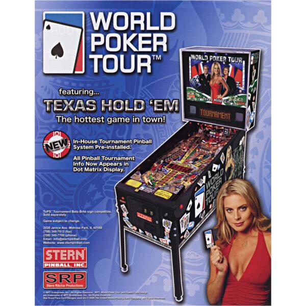 World Poker Tour Pinball Flyer 1 600x600 - World Poker Tour Pinball Machine