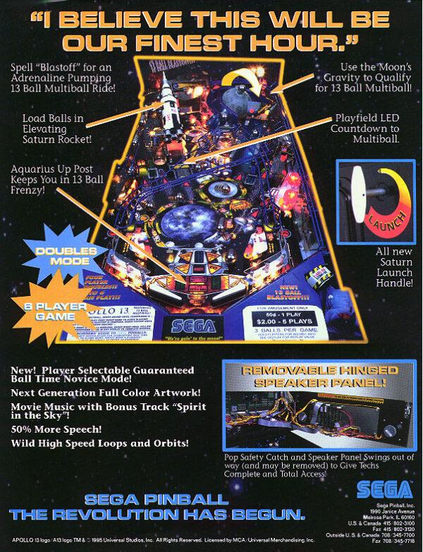 apollo image 4 600x783 - Apollo 13 Pinball Machine
