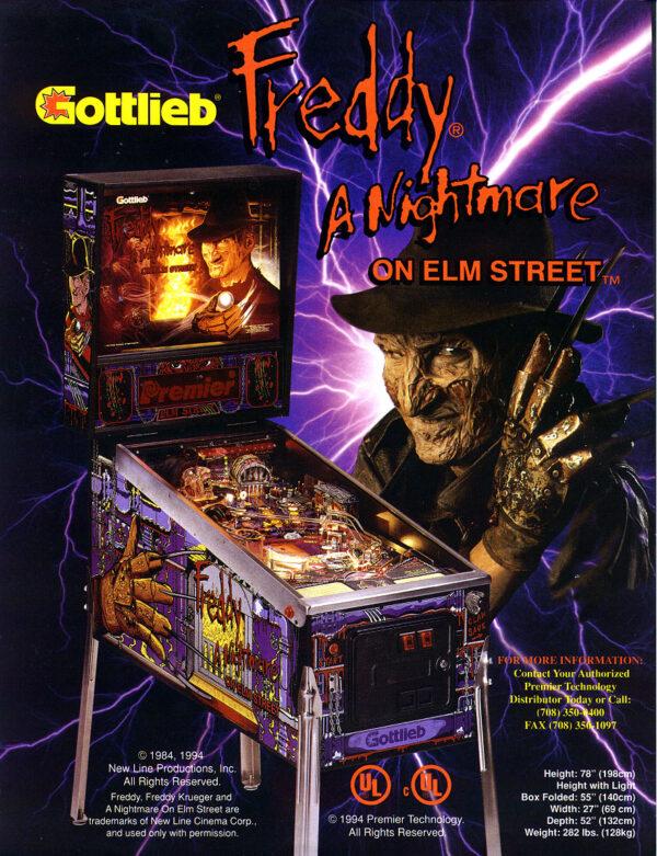 nightmare image 7 600x781 - Freddy: A Nightmare On Elm Street - Pinball Machine