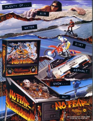 No Fear Pinball Machine By Williams