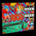 Soccer Pinball Machine by Gottlieb Backglass