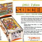 Soccer Pinball Machine by Gottlieb Flyer