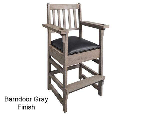 BArndoor Gray Finish Spectator Chair Main 600x464 - King Spectator Chair
