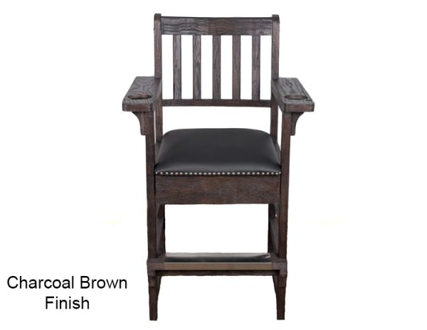 Charcoal Brown Finish Spectator Chair 600x464 - King Spectator Chair