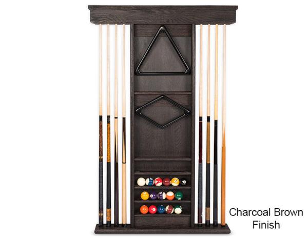 Charcoal Brown Wall Rack 600x464 - Kariba Pool Table