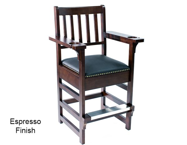 Espresso Finish Spectator Chair 600x464 - King Spectator Chair