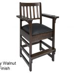 Gray Walnut Finish Spectator Chair