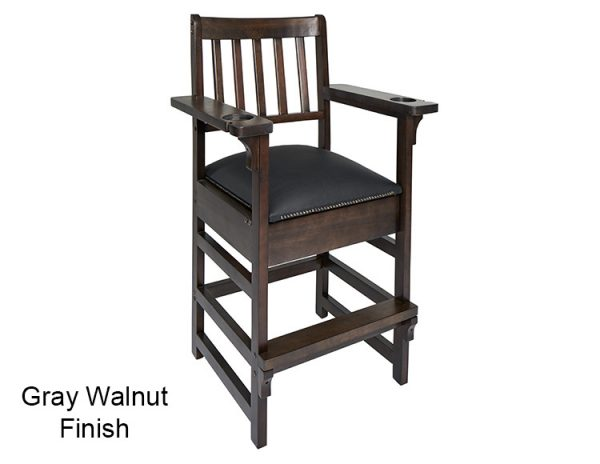 Gray Walnut Finish Spectator Chair 600x464 - King Spectator Chair