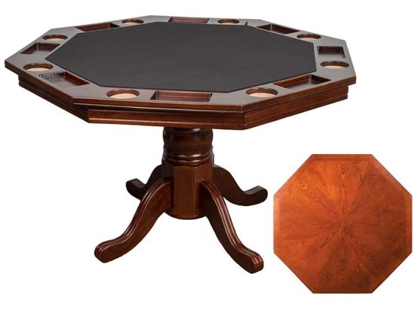 """Poker Table Only Main 600x464 - Octagonal Poker Table - Two in One Table (48"""") with top"""