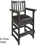 Slate Gray Finish Spectator Chair