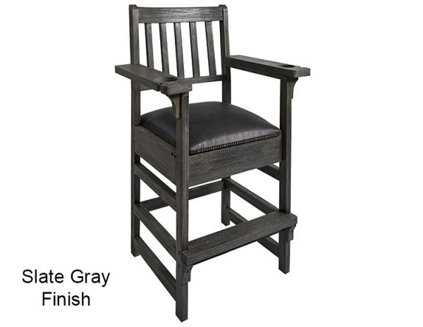 Slate Gray Finish Spectator Chair 600x464 - King Spectator Chair