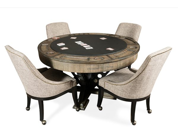 Vienna Poker table and Chairs 600x464 - Poker Table Game Chairs
