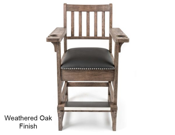 Weathered Oak Finish Spectator Chair 600x464 - King Spectator Chair