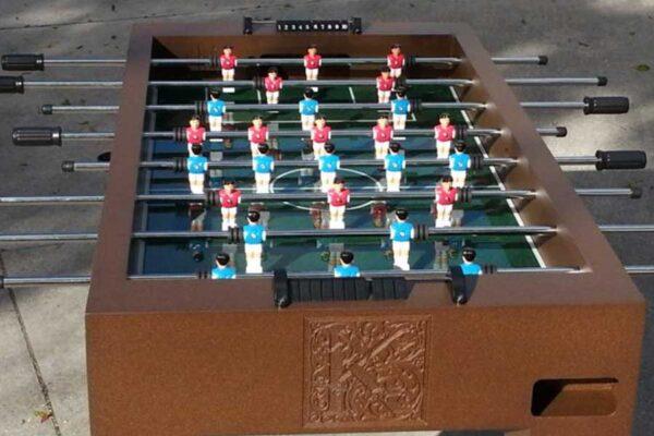 foosball table randroutdoors all weather billiards 2 web 600x400 - Outdoor Foosball Table by R & R Outdoors