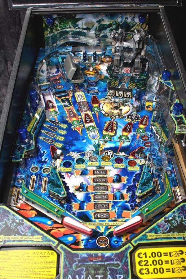 Avatar Pinball Machine Playfield
