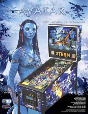 Avatar Pinball Machine flyer