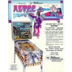 Aztec Pinball Machine Flyer