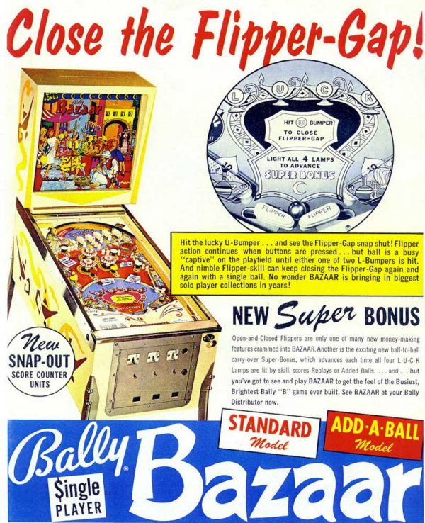 Bazaar Pinball Machine by Bally Flyer