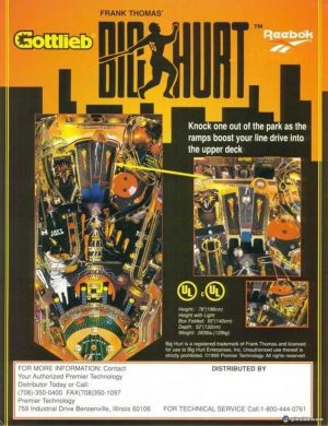 Frank Thomas Big Hurt Pinball Machine Flyer