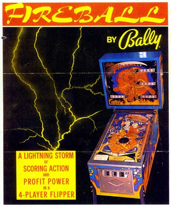Fireball Pinball Machine by Bally Flyer