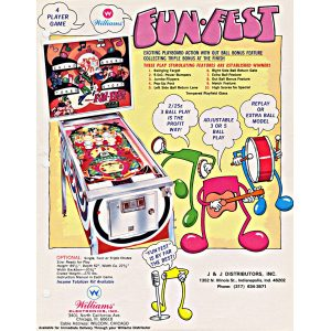 Fun-Fest Pinball Machine Flyer