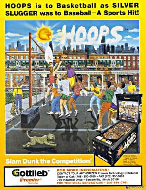 Hoops Pinball Machine Flyer