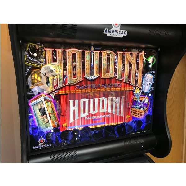 Houdini Pinball Machine Backglass
